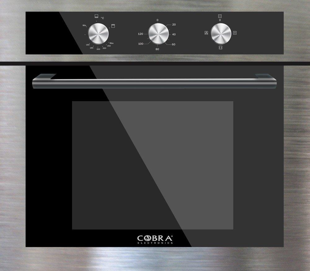 Four encastrable noir inox cobra electronics cobra electronics - Four a gaz encastrable ...
